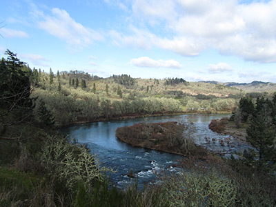 Bend in North Umpqua River near UCC