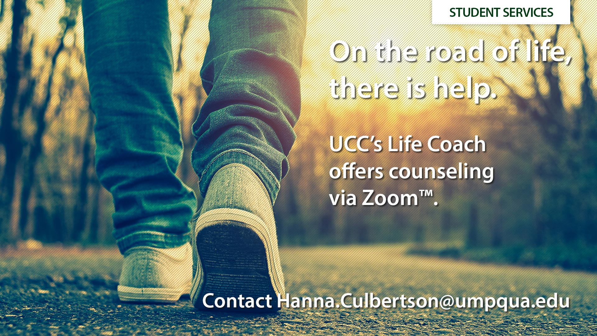 Counseling Services - UCC's Life Coach offers assistance with test anxiety, time management, depression, and more.