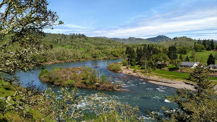 North Umpqua River running along side the UCC campus
