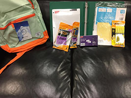 ASUCC can provide backpacks and school supplies to new students.