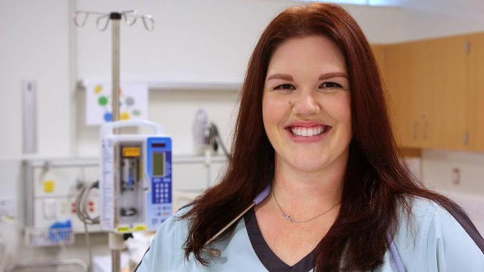 Kelli Finlay, Excelled in nursing program